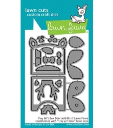 Lawn Fawn tiny gift box deer add-on