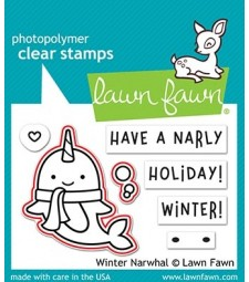 Lawn Fawn winter narwhal - lawn cuts lf2039