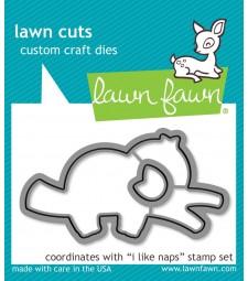 Lawn Fawn mermaid for you flip-flop - lawn cuts LF2596
