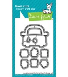 Lawn Fawn car critters - lawn cuts