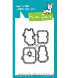 Lawn Fawn say what? masked critters cuts LF2561