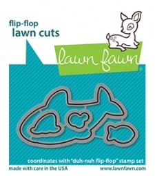 Lawn Fawn duh-nuh flip-flop - lawn cuts LF2598