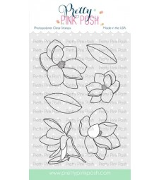 Pretty Pink Posh Magnolia Flowers Stamp Set