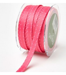 Coral Woven Knotted Edge Ribbon