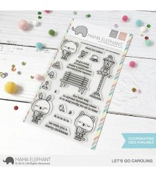 SALE - Mama Elephant Let's Go Caroling Clear Set