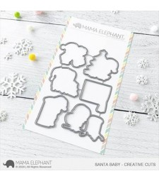 Mama Elephant Santa Baby Creative Cuts