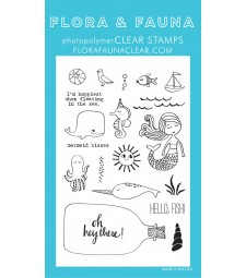 SALE - Flora & Fauna Mermaid Kisses Clear Stamp Set