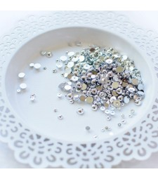 Pretty Pink Posh PEARL EMBELLISHMENTS Metallic Silver