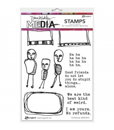 NEW Dina Wakley  No Refunds Stamp Set