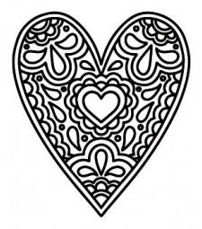 5731e - paper valentine heart