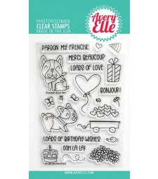 Avery Elle Frenchie Clear Stamps