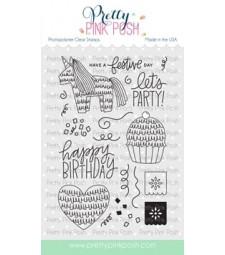 Pretty Pink Posh Pinata Party Stamp Set