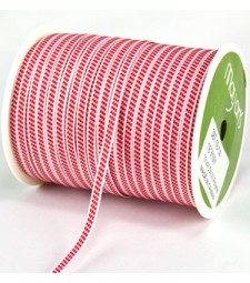 Center Stitches Ribbon Red and White