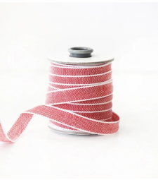 Red and White Cotton Ribbon