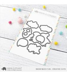Mama Elephant Snow Much Fun - Creative Cuts