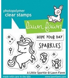 Lawn Fawn a little sparkle clear set