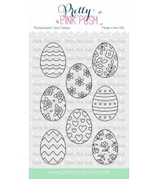 Pretty Pink Posh Spring Eggs Stamp Set