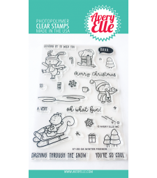 Avery Elle Winter Friends Stamps st2034