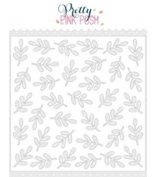 Pretty Pink Posh Leaves Stencil
