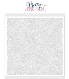 Pretty Pink Posh Tropical Background Stencil