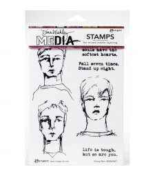 Dina Wakley Strong Men Stamp Set