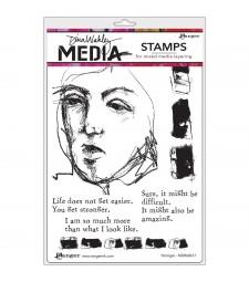 Dina Wakley Stonger Stamp Set