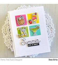 Pretty Pink Posh Summer Drinks stamp set