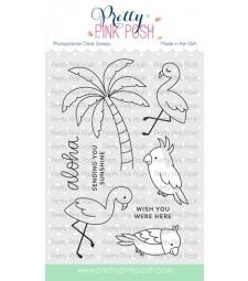 Pretty Pink Posh Tropical Birds Stamp Set