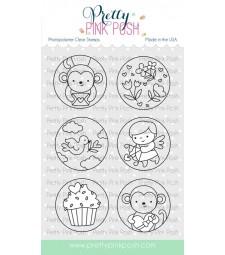 Pretty Pink Posh Valentine Circles Stamp Set