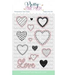Pretty Pink Posh Valentine Hearts coordinating dies