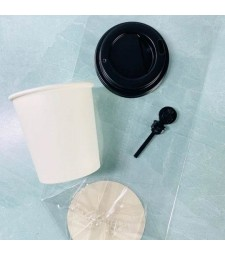 Mini Paper Cup Craft Kit - Set of 10 in white or black