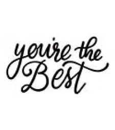5733d - you're the best rubber stamp