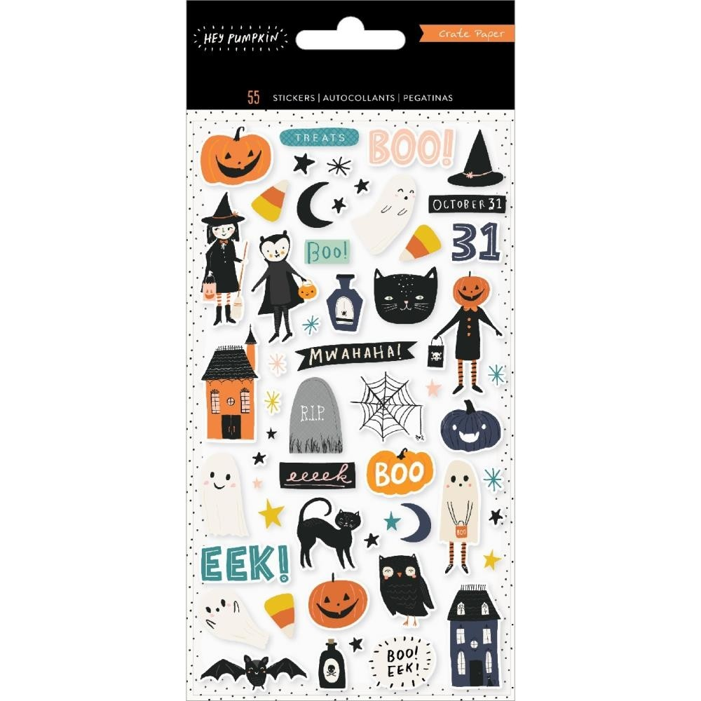 Hey, Pumpkin Puffy Stickers 55/Pkg