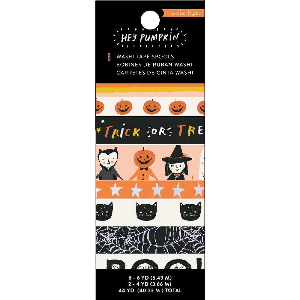 Hey, Pumpkin Washi Tape 8/Pkg