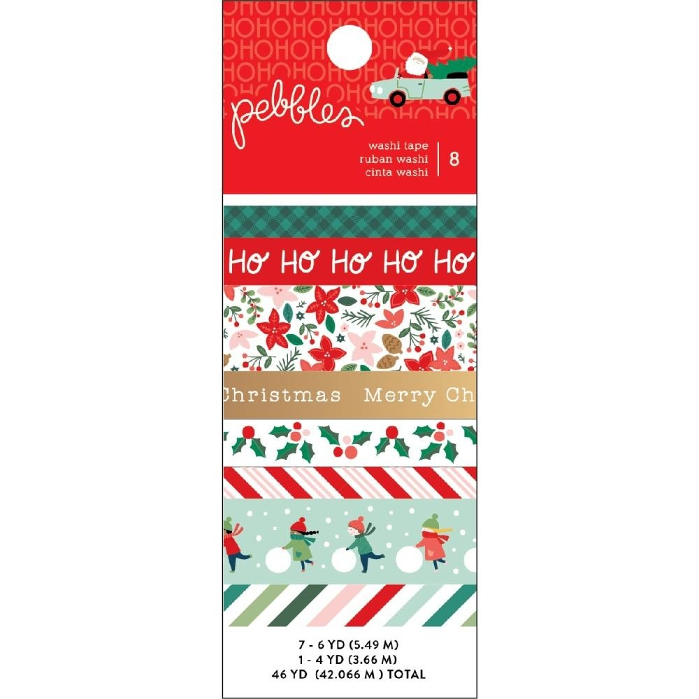 Merry Little Christmas Washi Tape 8/Pkg