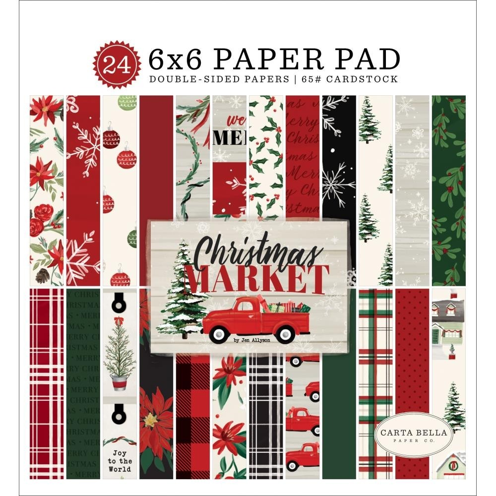 Carta Bella Double-Sided Paper Pad - Christmas Market