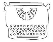 Typewriter Die (10085)