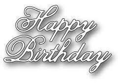 sale - poppystamps vintage happy birthday 1178