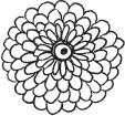 Outline Flower Blossom (1285d)
