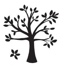 Leaf Tree w/flower (1305j)