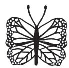 sm cut out laced butterfly (1497d)