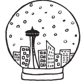seattle snowglobe (1501h)