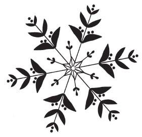 elegant snowflake (1504g)