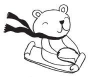 sledding polar bear (1553d)