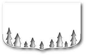 sale - poppystamps elegant tree border contour 1586
