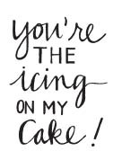 Savvy You're the Icing on the Cake Stamp (1587d)