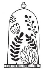 Savvy Stamps Floral Terrarium 1619e