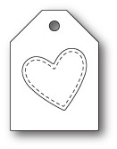 Poppystamps Heart Taglet craft die 1845