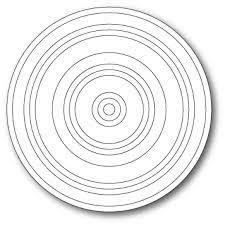 sale - poppystamps concentric rings 1881
