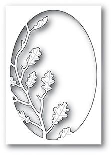 Poppystamps Oak Leaf Oval Collage craft die 1949